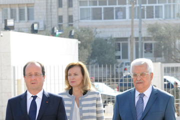 Valerie Trierweiler Francois Hollande Visits West Bank