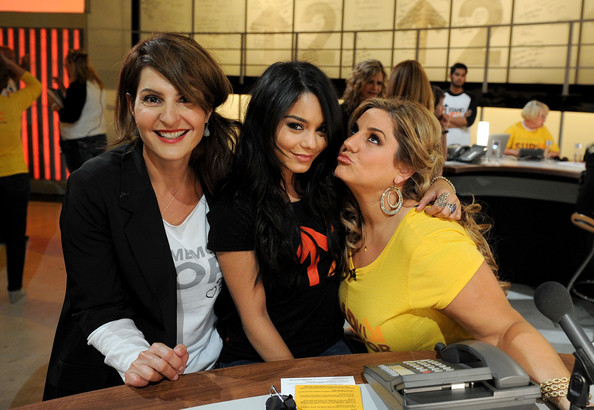 Vanessa Hudgens In this handout photo provided by Getty Images, actresses Nia Vardalos, Vanessa Hudgens, and Marissa Jaret Winokur pose during Stand Up To Cancer at Sony Pictures Studios on September 10, 2010 in Culver City, California.