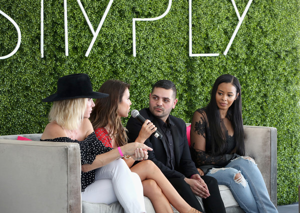 SIMPLY Los Angeles Fashion + Beauty Conference Powered by NYLON at The Grove [sitting,fun,grass,friendship,leisure,summer,tree,plant,photography,happy,michael costello,amber farr,audrina patridge,vanessa simmons,nylon,tv personality,l-r,the grove,los angeles,los angeles fashion beauty conference]