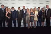 "(L-R) Producer John Sloss, Sandra Adair, actress Patricia Arquette, Chief marketing officer, FCA Global, Olivier Francois, director Richard Linklater, publisher of Vanity Fair Chris Mitchell, producer Cathleen Sutherland, actors Libby Villari, Zoe Graham, Ellar Coltrane, Lorelei Linklater and producer Jonathan Sehring attend VANITY FAIR and Chrysler Celebration of Richard Linklater and the cast of ""Boyhood"" at Cecconi's on February 19, 2015 in Los Angeles, California."