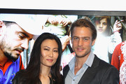 SunHee Grinnell and Jason Morgan attend Vanity Fair Campaign Hollywood Social Club - Beauty Moment: Giorgio Armani Beauty Happy Hour Toasting UNICEF on February 19, 2015 in Los Angeles, California.