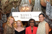 (L-R) Laura Dern, Patricia Clarkson, Dr. Anita Hill, and Radhika Jones attend Vanity Fair and Lancôme Toast Women in Hollywood on February 06, 2020 in Los Angeles, California.