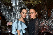 (L-R) Abigail Spencer and Kristin Blumensadt attend Vanity Fair and Lancôme Toast Women in Hollywood on February 06, 2020 in Los Angeles, California.