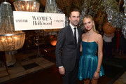 (L-R) Stuart Leitch and Chiara Ferragni attend Vanity Fair and Lancôme Toast Women in Hollywood on February 06, 2020 in Los Angeles, California.