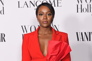 Aja Naomi King attends the Vanity Fair and Lancôme Women in Hollywood celebration at Soho House on February 06, 2020 in West Hollywood, California.