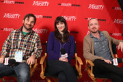 Director James Ponsoldt and actors Mary Elizabeth Winstead and Aaron Paul speak at Day 2 of the Variety Studio during the 2012 Sundance Film Festival held at Variety Studio At Sundance on January 22, 2012 in Park City, Utah.