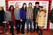 (L-R) Actress Octavia Spencer, actor Aaron Paul, actress Mary Elizabeth Winstead, writer/director James Ponsoldt, actor Nick Offerman and actress Megan Mullally attend Day 2 of the Variety Studio during the 2012 Sundance Film Festival held at Variety Studio At Sundance on January 22, 2012 in Park City, Utah.