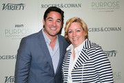 Actor Dean Cain (L) and Kirstin Wilder, Managing Editor, Variety attend Variety's Purpose: The Family Entertainment and Faith-Based Summit in association with Rogers And Cowan at Four Seasons Hotel Los Angeles at Beverly Hills on June 12, 2014 in Beverly Hills, California.