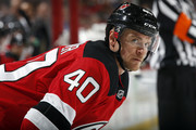 Michael Grabner #40 of the New Jersey Devils looks on against the Vegas Golden Knights during the second period at the Prudential Center on March 4, 2018 in Newark, New Jersey.