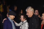 Jonas Mekas, Laurie Anderson and John Cale attend The Velvet Underground Experience private opening night party on October 9, 2018 in New York City.