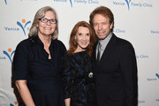 (L-R) Venice Family Clinic CEO Elizabeth Benson Forer, editor Linda Bruckheimer and producer Jerry Bruckheimer attend the Venice Family Clinic's Silver Circle Gala at Regent Beverly Wilshire Hotel on March 9, 2015 in Beverly Hills, California.
