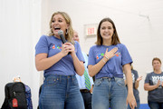 Lauren Alaina and Bailee Madison speak to the kids during Vera Bradley x Blessings In A Backpack event on August 28, 2019 in Nashville, Tennessee.