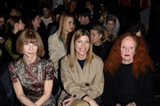 (L-R) 'Anna Wintour, Virginia Smith, and Grace Coddington attend the Vera Wang Collection Fall 2016 fashion show during New York Fashion Week: The Shows at The Arc, Skylight at Moynihan Station on February 16, 2016 in New York City.