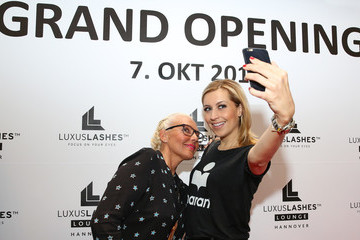 Verena Kerth Luxuslashes Lounge Grand Opening in Hanover
