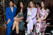 Pritika Swarup, Padma Lakshmi, Jamie Chung, and Bailee Madison attend the Veronica Beard fashion show during February 2020 - New York Fashion Week: The Shows on February 10, 2020 in New York City.