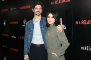 "Andre Hyland and Daniella Pineda attend the Vertical Entertainment's ""In A Relationship"" Premiere at The London Hotel on October 30, 2018 in West Hollywood, California."