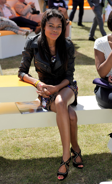 Naomie Harris Naomie Harris attends the Veuve Clicquot Gold Cup Final at Cowdray Park Polo Club on July 18, 2010 in Midhurst, England.