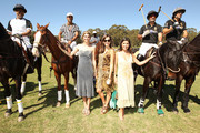 (L-R) Delfina Blaquier, Host and Preisent of Veuve Clicquot Vanessa Kay and actress Camilla Belle attend Veuve Clicquot Polo Classic Los Angeles at Will Rogers State Historic Park on October 9, 2011 in Los Angeles, California.