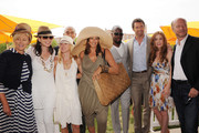 (L-R) Deborra-Lee Furness, Julianna Margulies, Naomi Watts, Donna Karan, Wyclef Jean, Hugh Jackman, Isla Fisher and Paul Haggis attend the Veuve Clicquot Polo Classic at Governor's Island on June 5, 2011 in New York City.