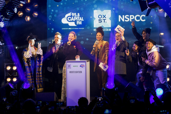 Oxford Street Christmas Lights Switch On [performance,event,stage,music artist,performing arts,concert,music,talent show,convention,crowd,stage,lights,vick hope,roman,oxford street,christmas lights switch,london,rita ora,kemp,matt terry]