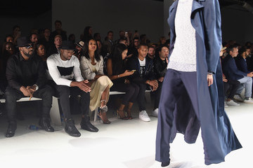 Victor Cruz The Front Row of Ovadia & Sons at New York Fashion Week