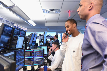 Victor Cruz Annual Charity Day Hosted By Cantor Fitzgerald, BGC and GFI - Cantor Fitzgerald Office - Inside