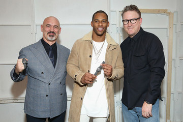 Victor Cruz Todd Snyder Fashion Show Featuring the New TIMEX X Todd Snyder MS1 Maritime Sport Watch