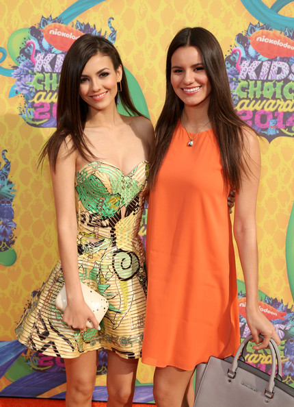 Photo of Victoria Justice & her Sister  Madison Justice