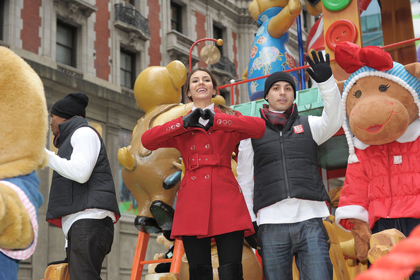 Victoria Justice Actress/singer Victoria Justice makes her way through the streets on the Build-A-Bear Workshop float the during the 84th Annual Macy's Thanksgiving Day Parade on November 25, 2010 in New York City.