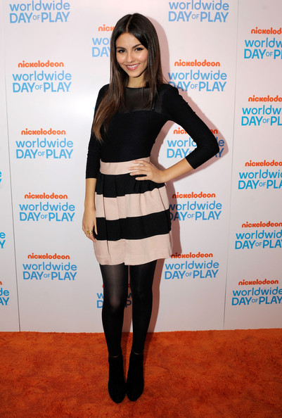 Victoria Justice Victoria Justice attends Nickelodeon's celebration of the 8th Annual Worldwide Day of Play at The W Hotel on September 23, 2011 in Washington, DC.