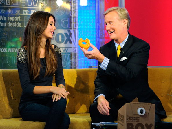 Victoria Justice Actress Victoria Justice talks with Steve Doocy on