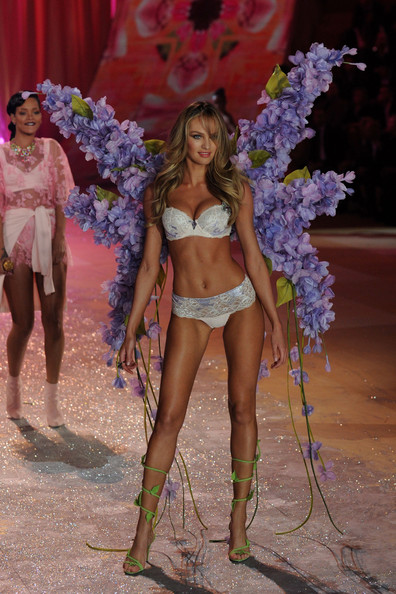 Victoria's Secret Angel Candice Swanepoel walks the runway during the Victoria's Secret 2012 Fashion Show on November 7, 2012 in New York City.