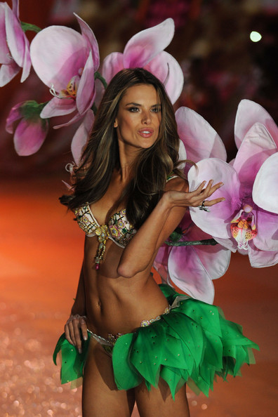 Victoria's Secret Angel Alessandra Ambrosio walks the runway during the Victoria's Secret 2012 Fashion Show on November 7, 2012 in New York City.