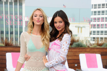 Miranda Kerr Candice Swanepoel Victoria's Secret 2012 Swim Launch With Miranda Kerr And Candice Swanepoel