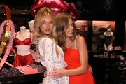 Josephine Skriver and Romee Strijd attend Victoria's Secret Angels Josephine Skriver and Romee Strijd share the new Dream Angels and Very Sexy collections on February 06, 2018 in Santa Monica, California.
