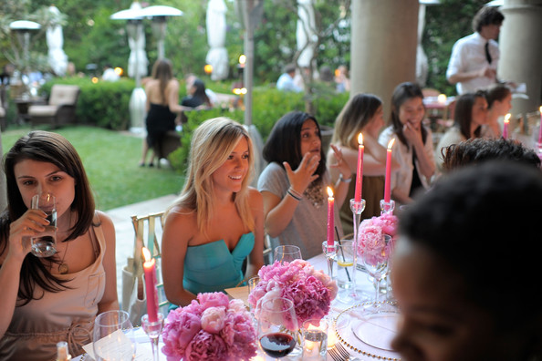 TV personality Kristin Cavallari attends a dinner party hosted by Victoria's Secret Bombshell, Candice Swanepoel in honor of the unveiling of the new VS Fantasies body care and fragrance collection at the Chateau Marmont on July 19, 2011 in Los Angeles, California.