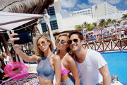 Devon Windsor,  Rachel Hilbert and Diego Boneta attend  Victoria's Secret PINK Nation Spring Break Beach Party in Cancun, Mexico on March 15, 2016 in Cancun, Mexico.