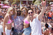 Devon Windsor, DJ Irie, Rachel Hilbert and Diego Boneta attend  Victoria's Secret PINK Nation Spring Break Beach Party in Cancun, Mexico on March 15, 2016 in Cancun, Mexico.