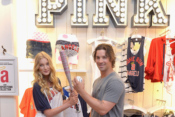 Elsa Hosk Victoria's Secret PINK Nation Launches MLB Collection At PINK Fashion Island Store