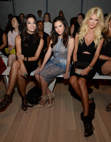 Pamella Roland Spring 2016 - Front Row [fashion,event,leg,dress,fun,fashion show,fashion design,fashion model,party,thigh,victoria silvstedt,ana villafane,ryan newman,front row,l-r,new york city,the whitney museum of american art,pamella roland spring,fashion show,pamella roland spring 2016]