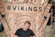 Alexander Ludwig attends Vikings Battle Axe Training at San Diego Comic-Con 2019 on July 20, 2019 in San Diego, California.