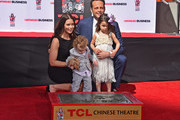 Kyla Weber, Vernon Lindsay Vaughn, Lochlyn Kyla Vaughn and actor Vince Vaughn attend the 280th hand and footprint ceremony immortalizing Vince Vaughn at The TCL Chinese Theatre IMAX on March 4, 2015 in Hollywood, California.