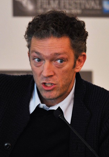 Actor Vincent Cassel talks to the media during the 'Black Swan' press