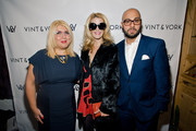 Larisa Ginzburg, Alex McCord, and Dmitriy Israel attend the Vint And York 2014 Collection NYFW Presentation on February 12, 2014 in New York City.