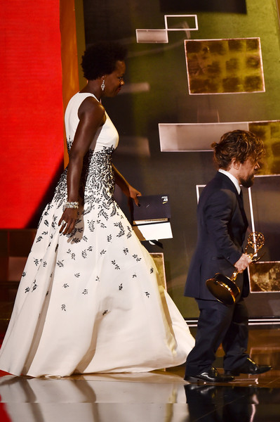 67th Annual Primetime Emmy Awards - Show [game of thrones,dress,fashion,formal wear,gown,bride,wedding dress,wedding,bridal clothing,marriage,ceremony,peter dinklage,viola davis,r,award,microsoft theater,california,show,primetime emmy awards,outstanding supporting actor in a drama series]