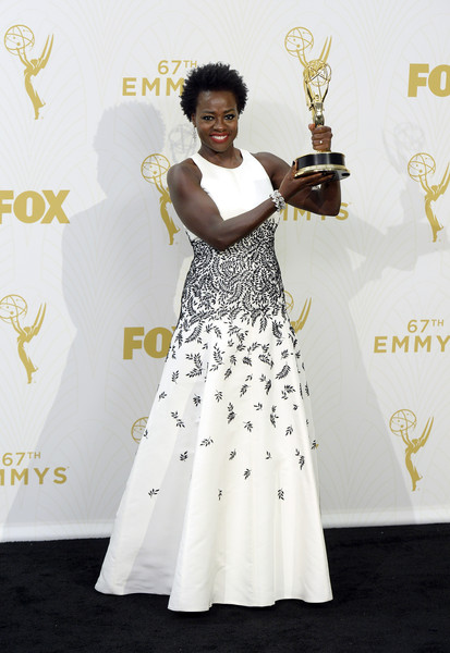 67th Annual Primetime Emmy Awards - Press Room [outstanding lead actress in a drama series,how to get away with murder,white,red carpet,clothing,carpet,dress,flooring,shoulder,fashion,formal wear,gown,viola davis,room,press room,microsoft theater,los angeles,california,primetime emmy awards]