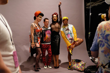Violet Chachki Miss Fame Seen Around Spring 2016 New York Fashion Week: The Shows - Day 5