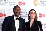 Lenny Henry and Suranne Jones in the Press Room at the Virgin TV BAFTA Television Award at The Royal Festival Hall on May 12, 2019 in London, England.