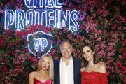 (L-R) Shea Marie, Kurt Seidensticker, and Louise Roe attend the Vital Proteins Launches Feed Your Beauty Popup Store in Soho NYC on September 5, 2018 in New York City.