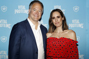 Vital Proteins CEO Kurt Seidensticker and tv personality Louise Roe attend the Vital Proteins Launches Feed Your Beauty Popup Store in Soho NYC on September 5, 2018 in New York City.